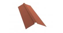 Коньки для кровли из металлочерепицы в Курске Планка конька плоского 115х30х115