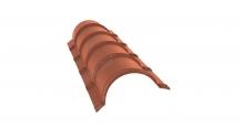 Коньки для кровли из металлочерепицы в Курске Планка малого конька полукруглого