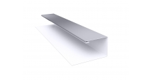 Металлические доборные элементы для фасада в Курске Планка П-образная/завершающая сложная 20х30